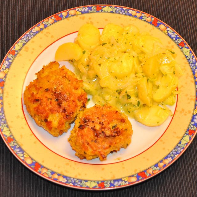 Juni 2020 ... Hirsebratlinge, Kartoffel-Gurken-Salat ... Brigitte Stolle
