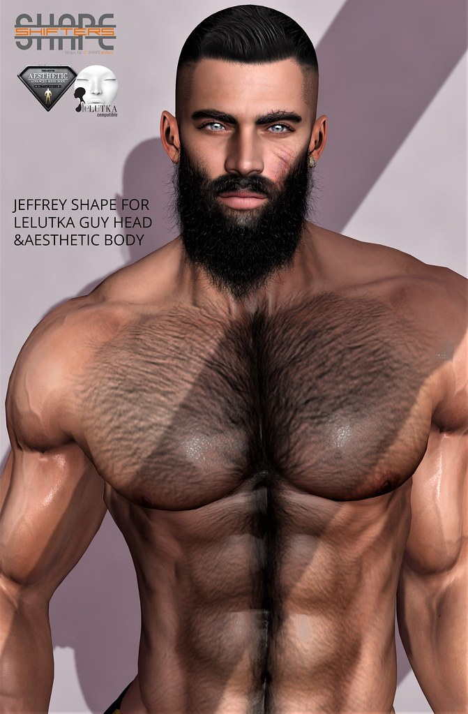 [SHAPEshifters] JEFFREY SHAPE FOR LELUTKA HEAD GUY & AESTHETIC BODY