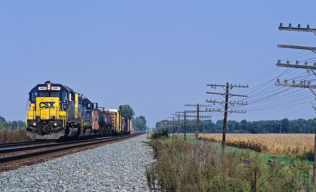CSXT 8881, CSX Pemberville Subdivision, Fostoria, Ohio