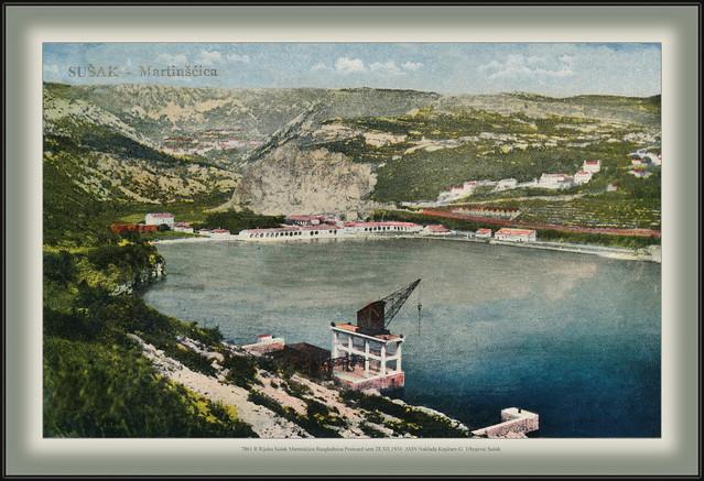 7861 R Rijeka Sušak Martinšćica Razglednica Postcard sent 28.XII.1934. AMN Naklada Knjižare G. Trbojević Sušak