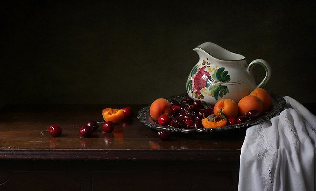 Still Life with Apricots and Cherries