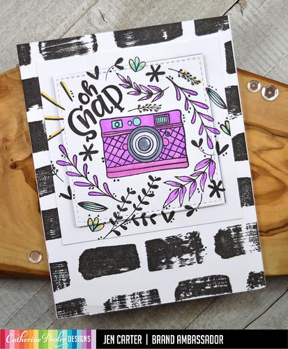 Jen Carter Oh Snap Camera Floral Swatch Purple