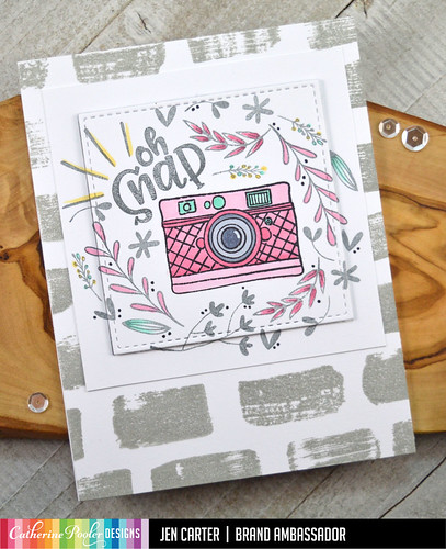 Jen Carter Oh Snap Camera Floral Swatch Pink