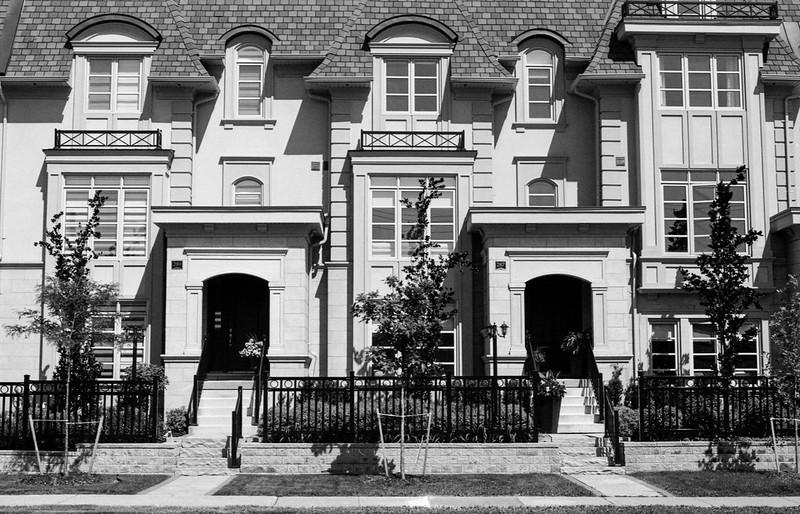 Upscale Town House Entrances