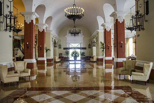 Entrance to front lobby, Valentin Imperial Riviera Maya, Mexico
