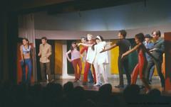 """Comédie Musicale """"Ne ratez pas l'espion"""" au théâtre de la Marjolaine à Eastman. 1966. VM94-Sd06-002b. Archives de la Ville de Montréal."""