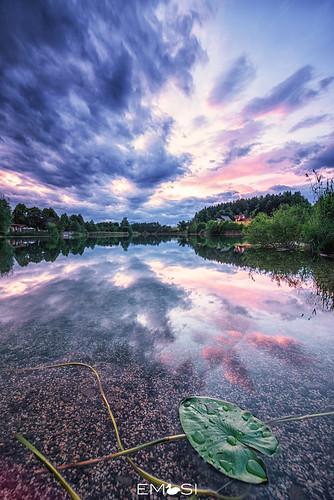 finkenstein kärnten carinthia austria österreich aichwaldsee see lake sonnenuntergang sunset wasser water nikond800 irix15mm24 natur nature wolken clouds