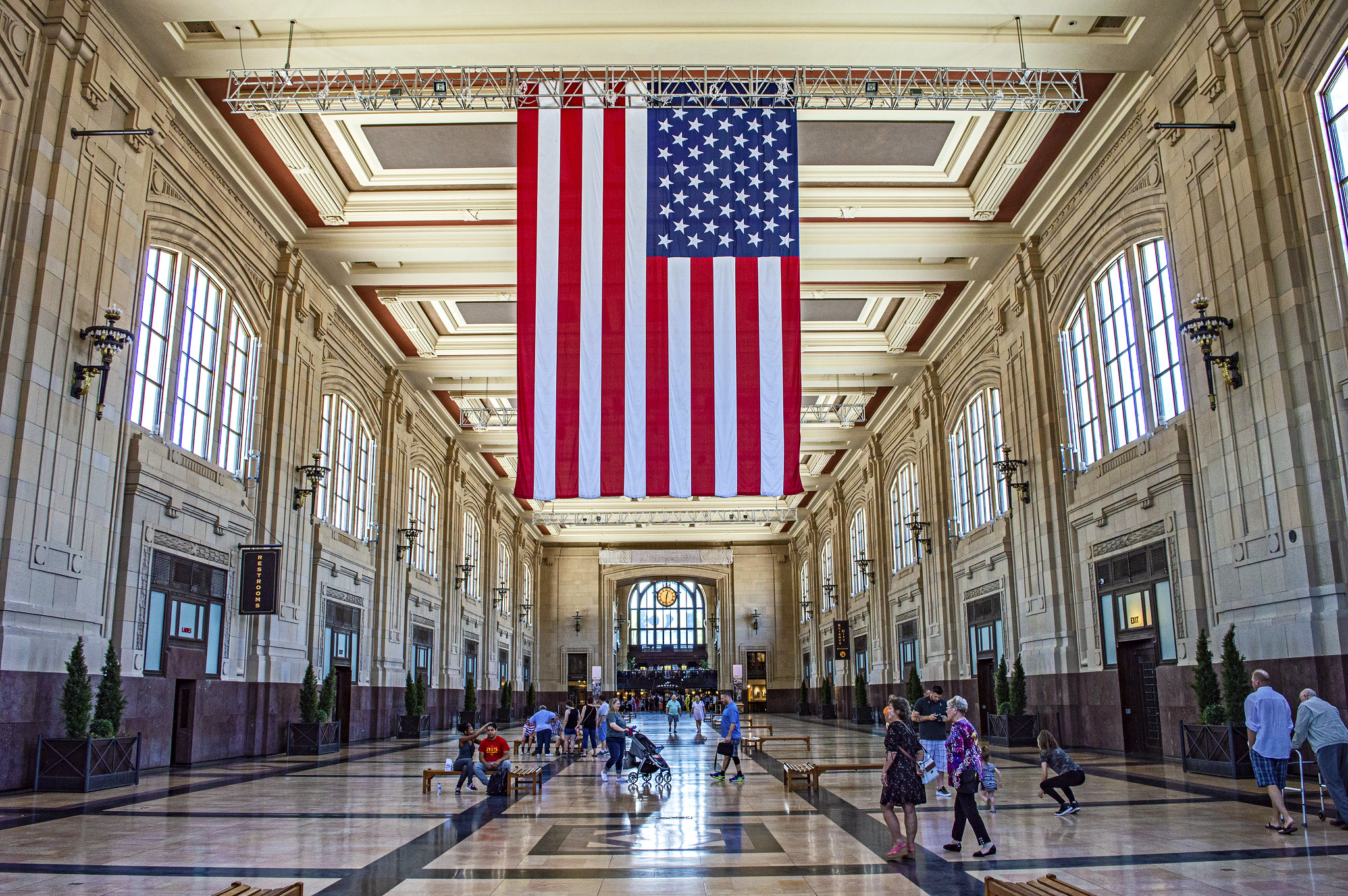 Old Glory at Union Station, Kansas City
