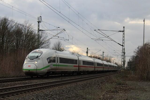 Ein Velaro D Klimaschützer durch Wattenscheid nach Dortmund Hbf