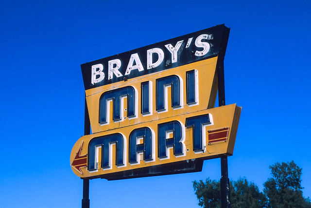 brady's mini mart. inyokern, ca. 2017.