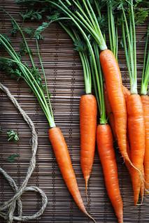 Fresh Leafy Carrots
