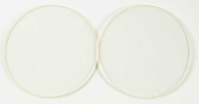 RD26931 Vintage Thermo Green Label Glass Welders Filter Lens 50mm & Welder