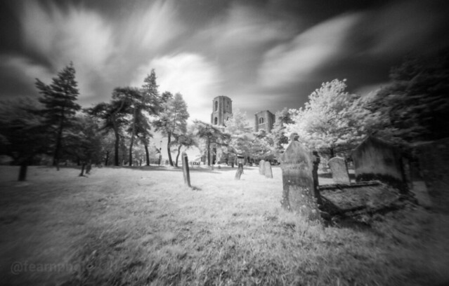 Wymondham Abbey in infra-red