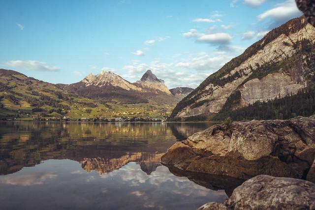 Mountain reflection - Lauerz, Switzerland