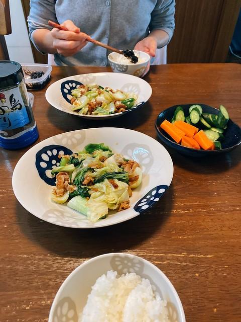 肉野菜オイスターソース炒め