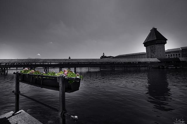 Special view Kapellbrücke in Luzern - Switzerland
