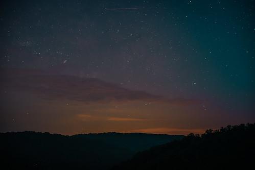 kentucky satellite nightsky naturalarch mountains appalachia cumberlandplateau danielboonenationalforest