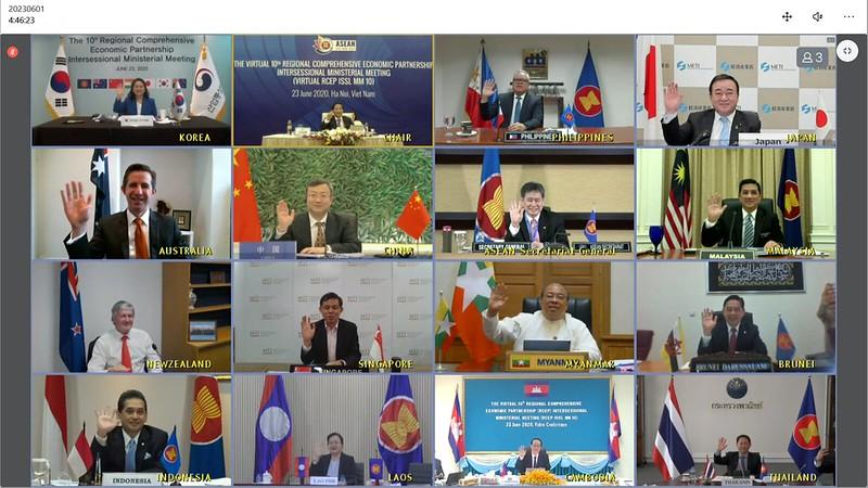 (JUNE 2020) Virtual 10th Regional Comprehensive Economic Partnership (RCEP) Intersessional Ministerial Meeting