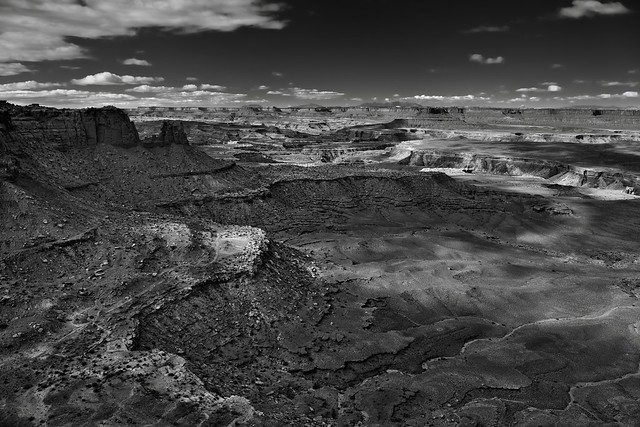 This Time in Canyonlands National Park I Hiked to Explore the Island in the Sky (Black & White)