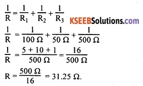 KSEEB Class 10 Science Important Questions Chapter 12 Electricity 57