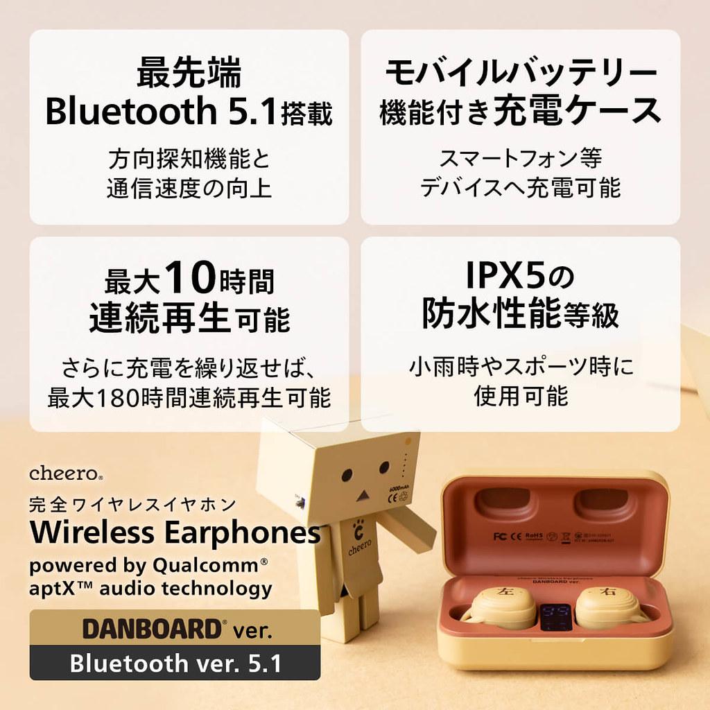 紙箱機器人再出擊~cheero《四葉妹妹!》阿楞 真無線藍牙 5.1 耳機 TWS(DANBOARD Wireless Earphones Bluetooth 5.1)