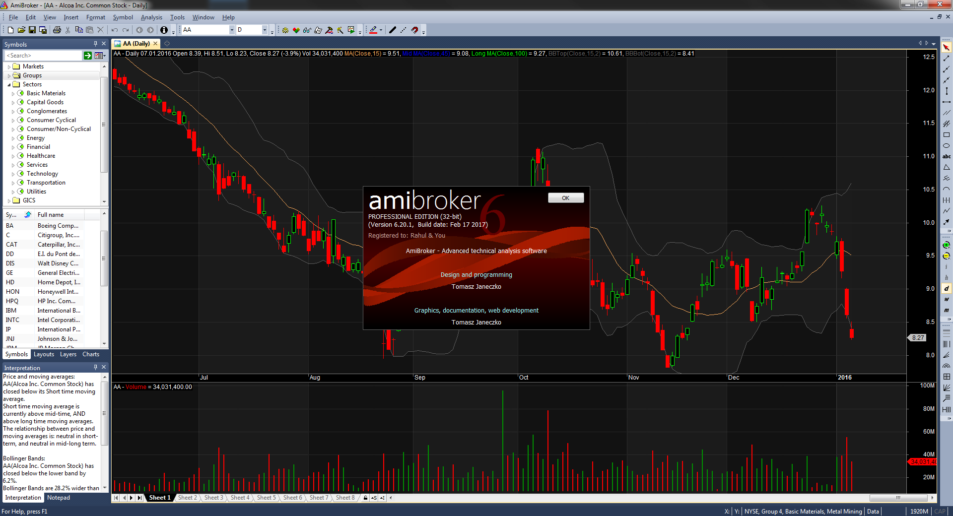 Working with AmiBroker Professional Edition 6.20.1 full license