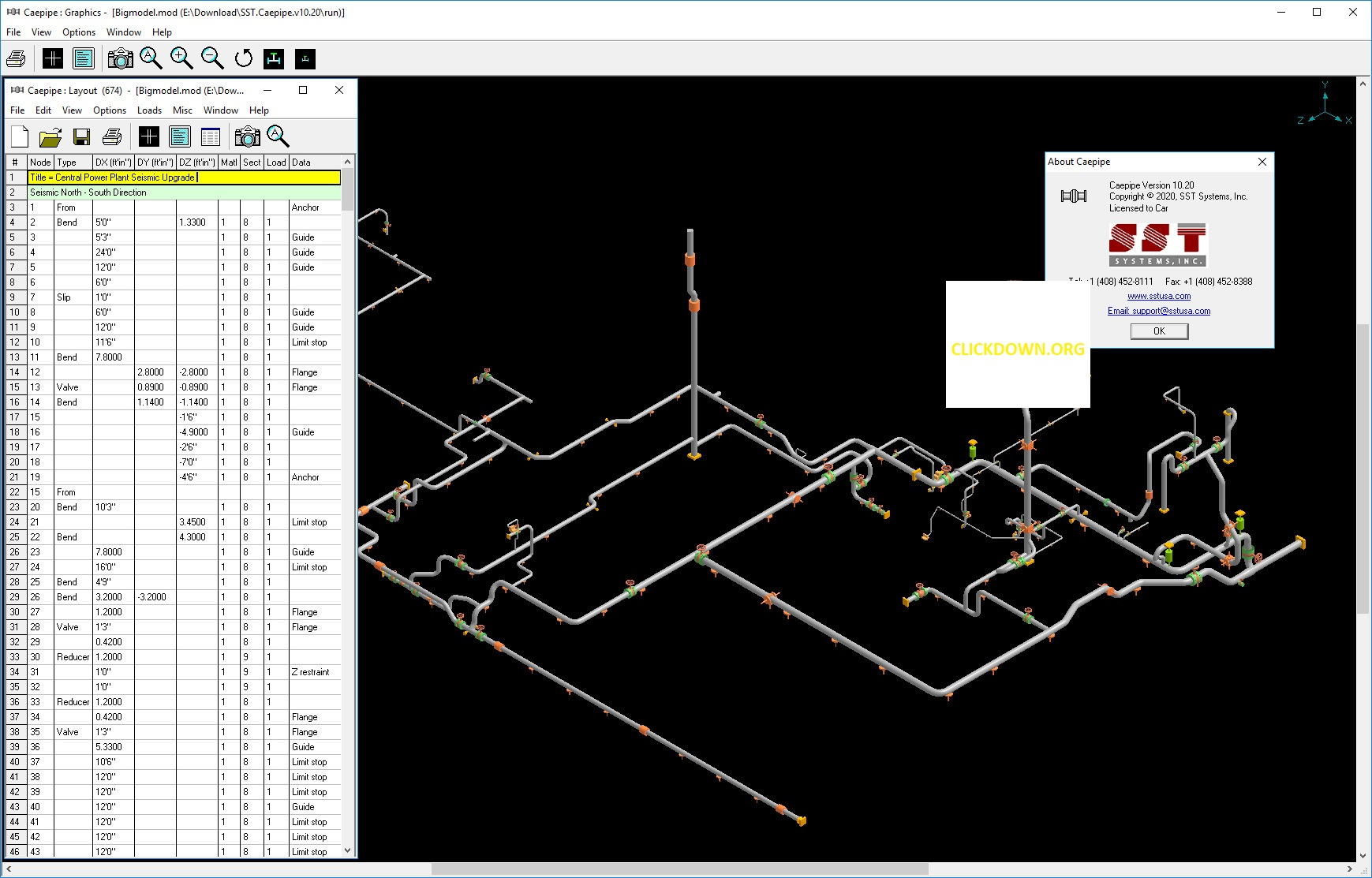 Working with SST Systems CAEPIPE 10.20 full license