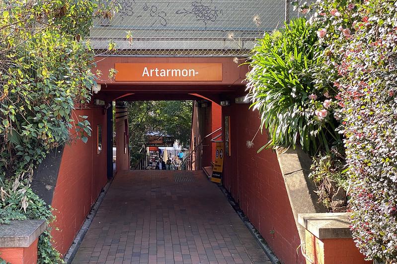 Artarmon station underpass
