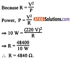KSEEB Class 10 Science Important Questions Chapter 12 Electricity 68