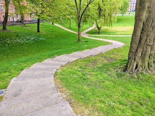 Steps at Winckley Square, Preston | by Tony Worrall