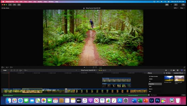 Final Cut Pro sous Apple Silicon
