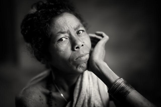 India, tribal woman in Chhattisgarh