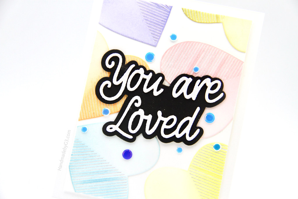 You are loved card closeup