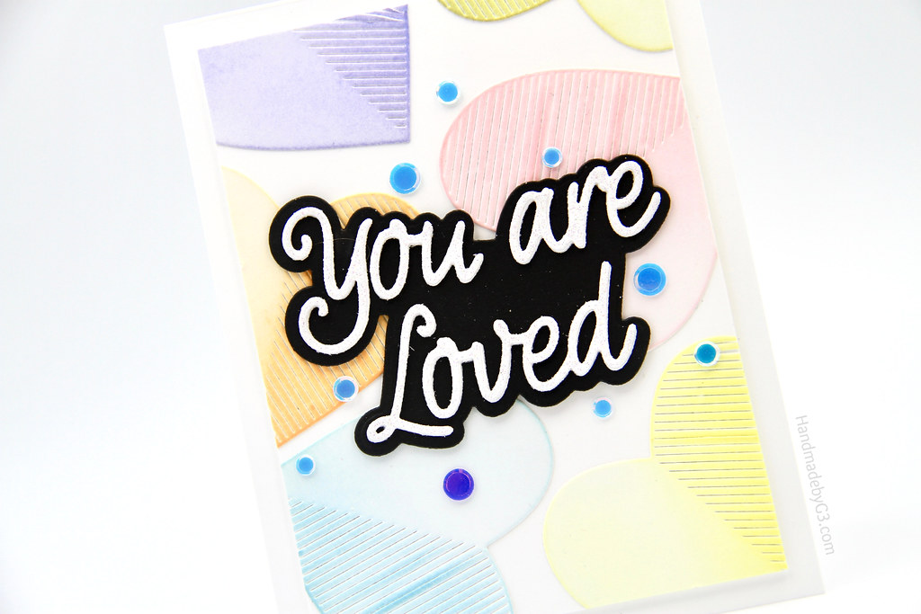 You are loved card closeup2