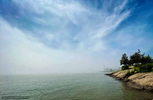 mist fog morning coast coastline landscape newengland longislandsound ct connecticut light clouds rocky