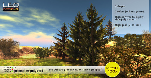 Leo Designs: new exclusive group gift - Pine tree set