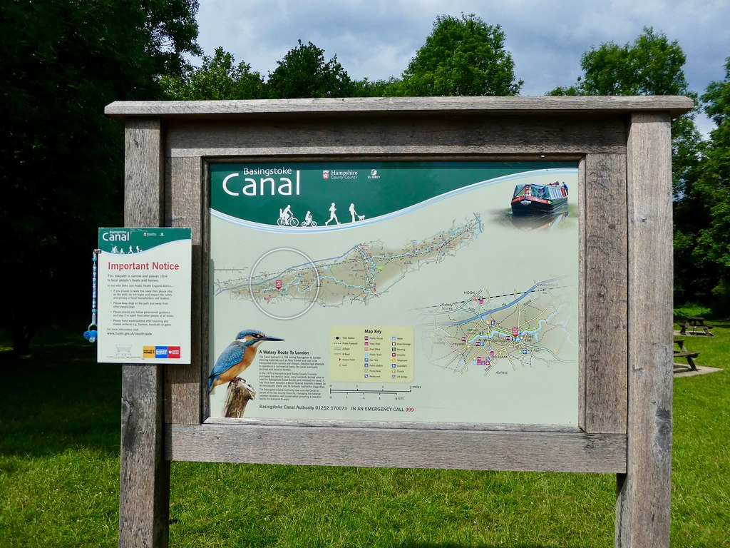 Information board at Odiham Wharf