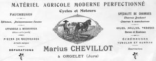 Entête de courrier de Marius Chevillot