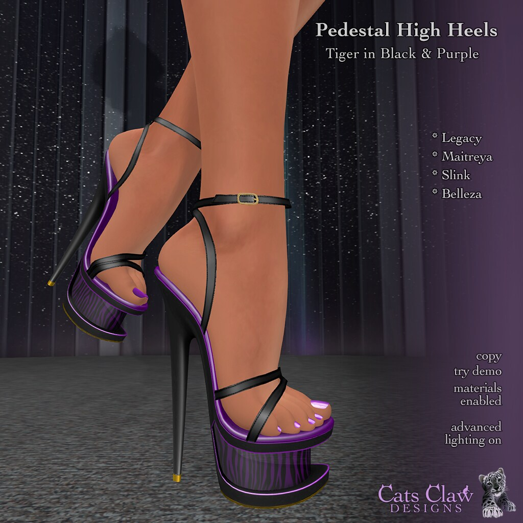 _CCD_Pedestal High Heels Tiger in Black&Purple 1024