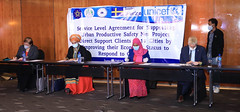 Signing ceremony between the Ministry of Labour and Social Affairs, Ministry of Urban Development, and UNICEF on top-up cash transfers for urban productive safety net beneficiaries in Ethiopia with the financial support from the Government of Sweden on 12