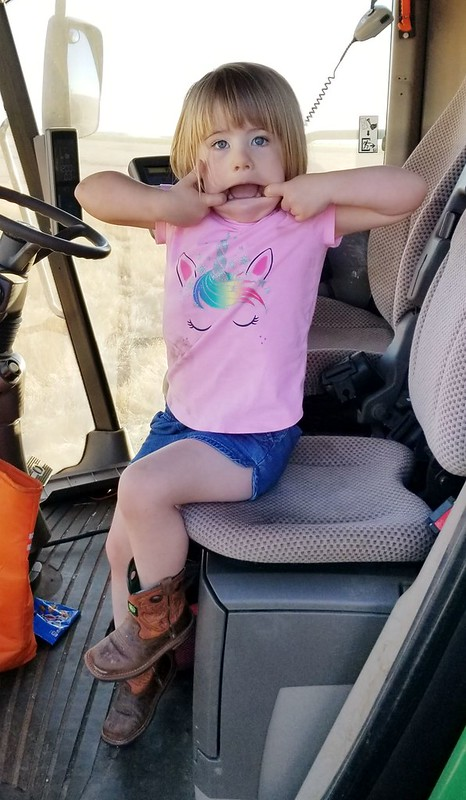 Silly girl in the combine!