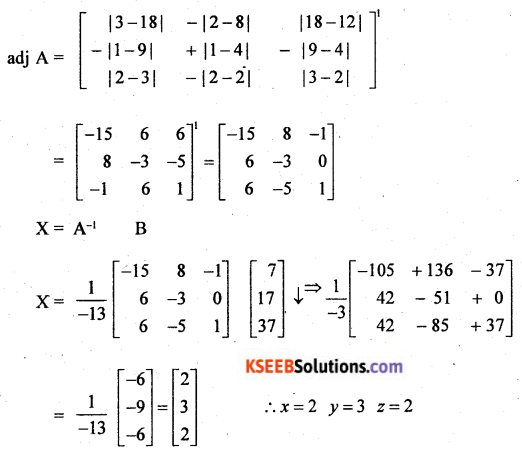 2nd PUC Basic Maths Model Question Paper 2 with Answers Q49.2