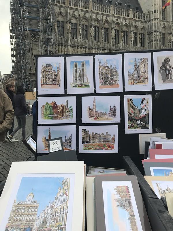 Arte en las calles de Bruselas