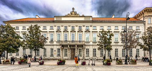 Multiphoto panorama of Tyszkiewicz Palace,  Warsaw, Poland.  346-Pano-Edit-Pano-Edita