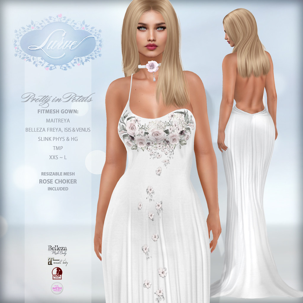 *Lurve* Pretty in Petals Gown in Snow