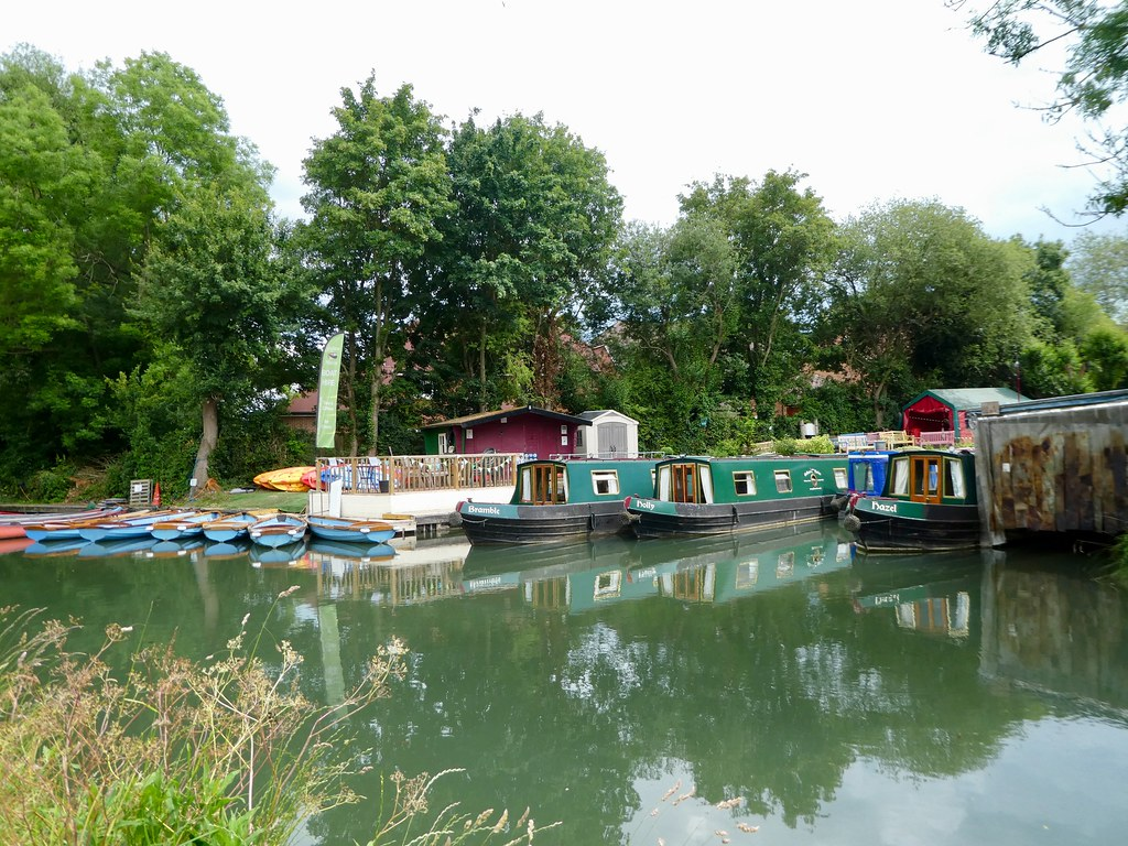 Canal boats for hire at Odiham Wharf