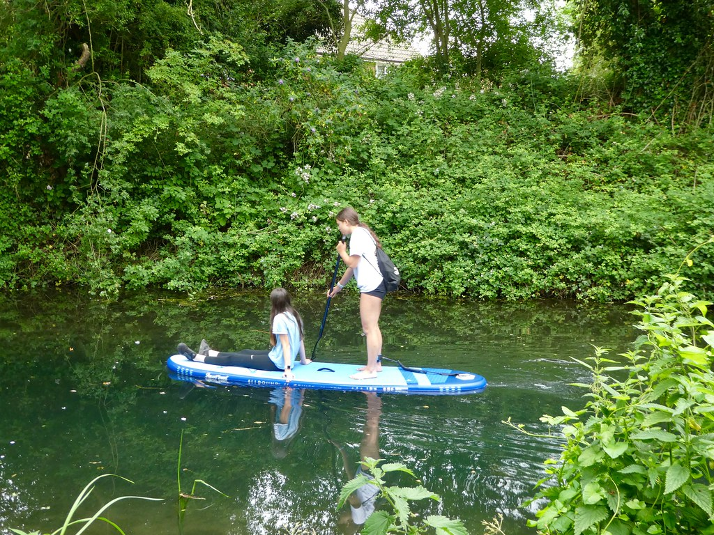 Stand up paddle boarding along the Basingstoke Canal