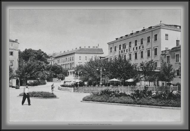 7862 R Šibenik Razglednica Postcard sent 22.IX.1957. Snimak Foto Cukrov Turističko društvo za Barbalić Marija Dobrinj