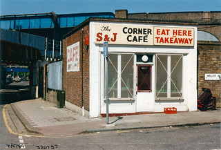 Cafe, Loughborough Junction, 1989, TQ3275-001
