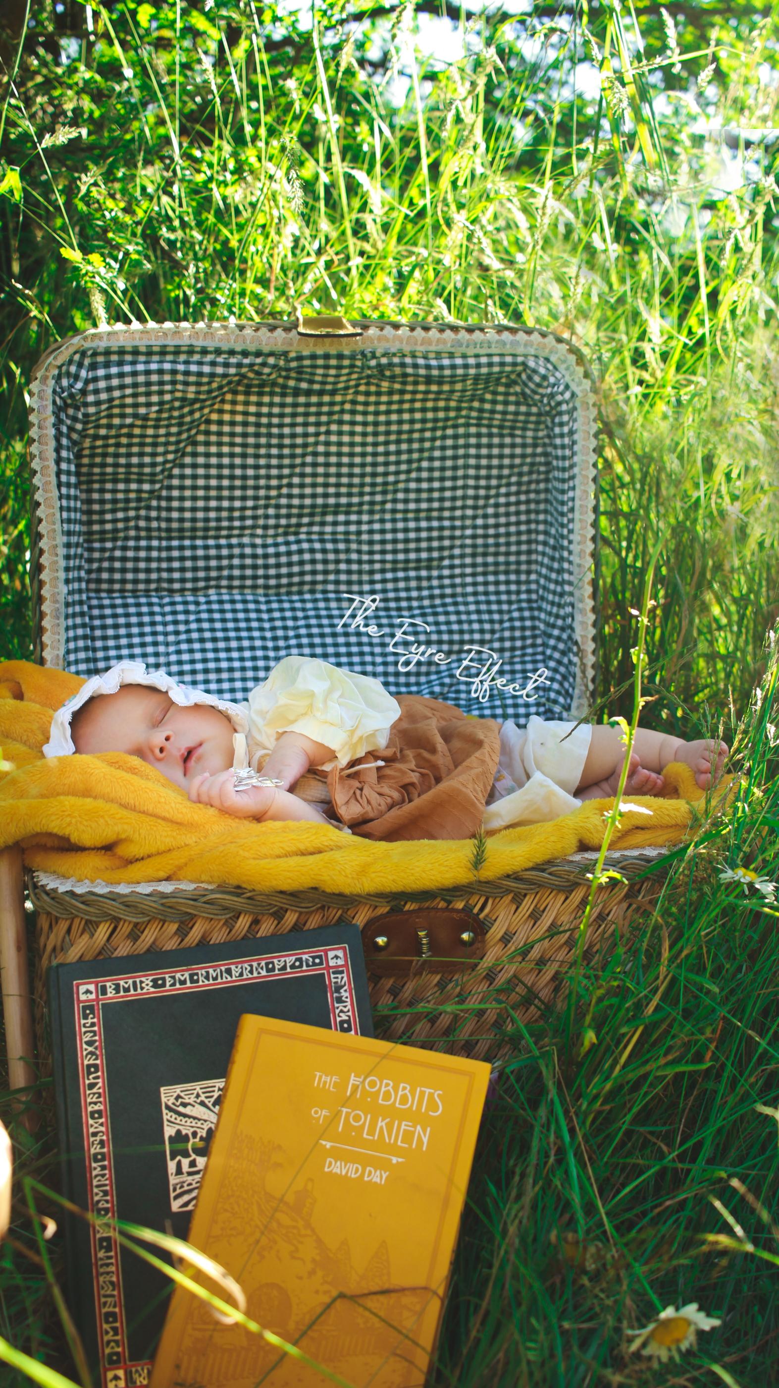 Hobbit newborn photoshoot